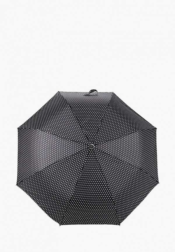 женский складные зонт zemsa, черный