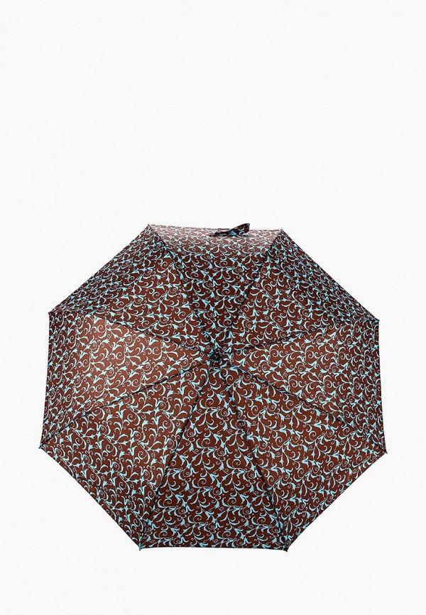 женский складные зонт zemsa, коричневый
