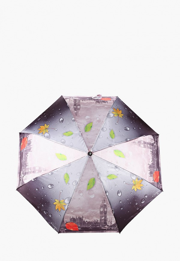 женский складные зонт flioraj, серый
