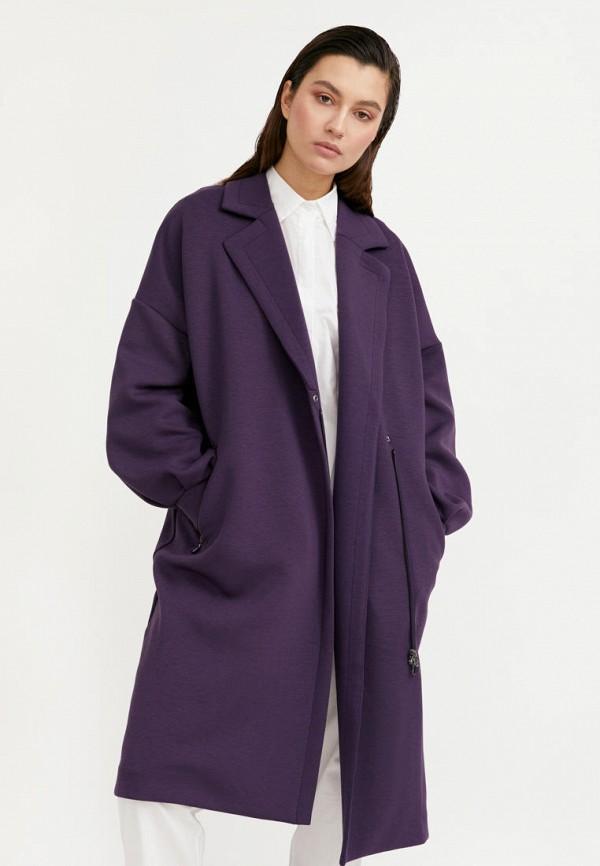 Пальто Finn Flare фиолетового цвета