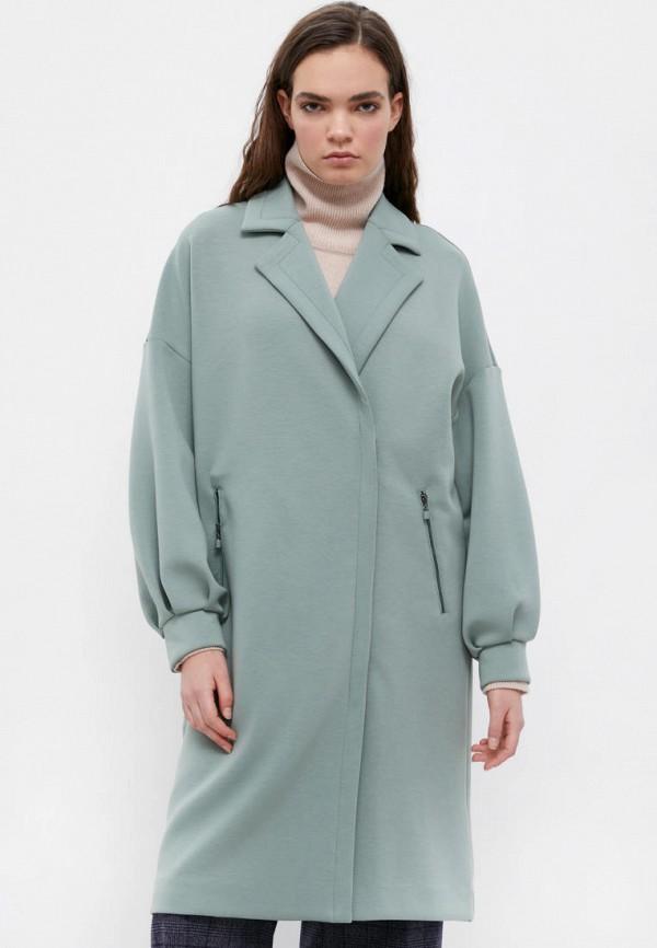 Пальто Finn Flare бирюзового цвета