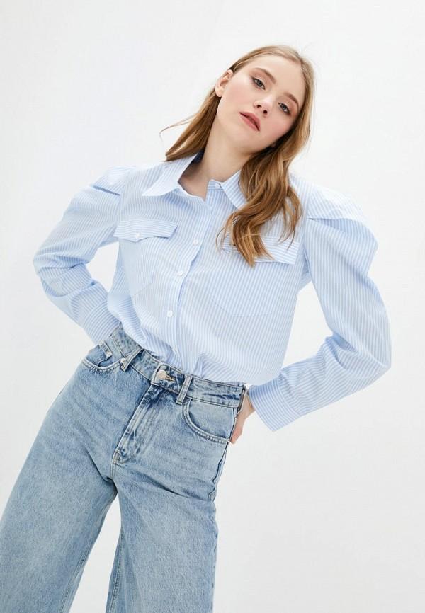 женская рубашка с длинным рукавом miss sixty, голубая