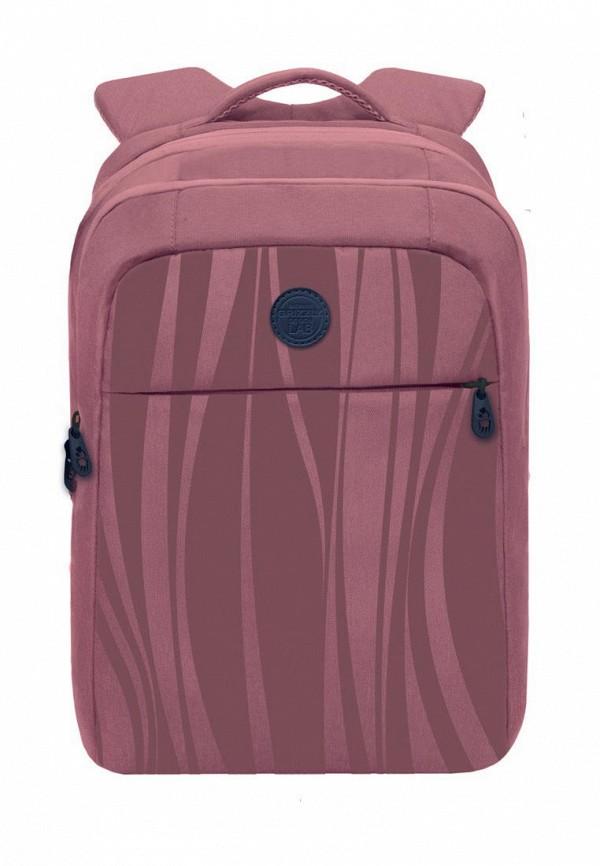 женский рюкзак grizzly, розовый