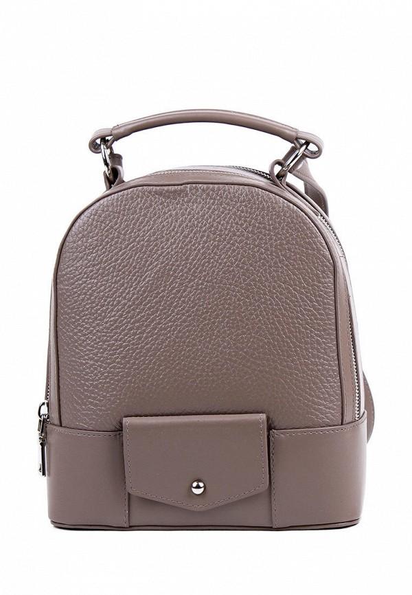 женский рюкзак медведково, коричневый