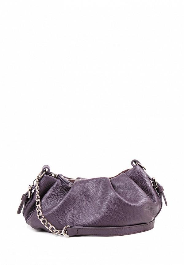 женская сумка через плечо медведково, фиолетовая