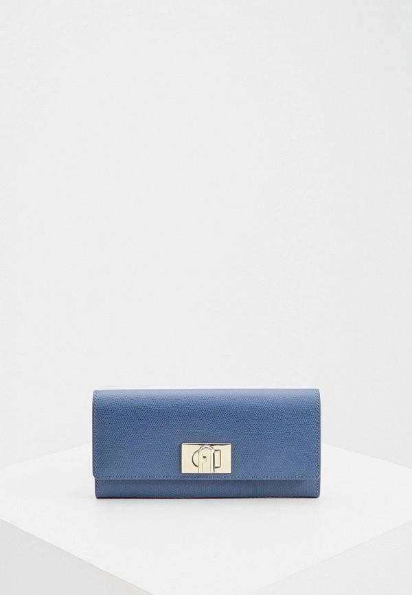 женский кошелёк furla, синий