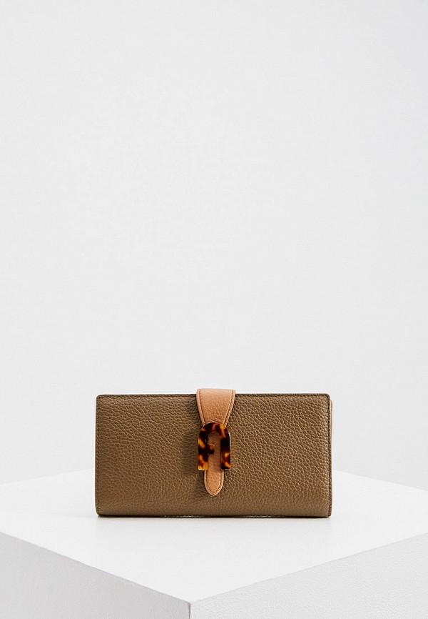 женский кошелёк furla, хаки