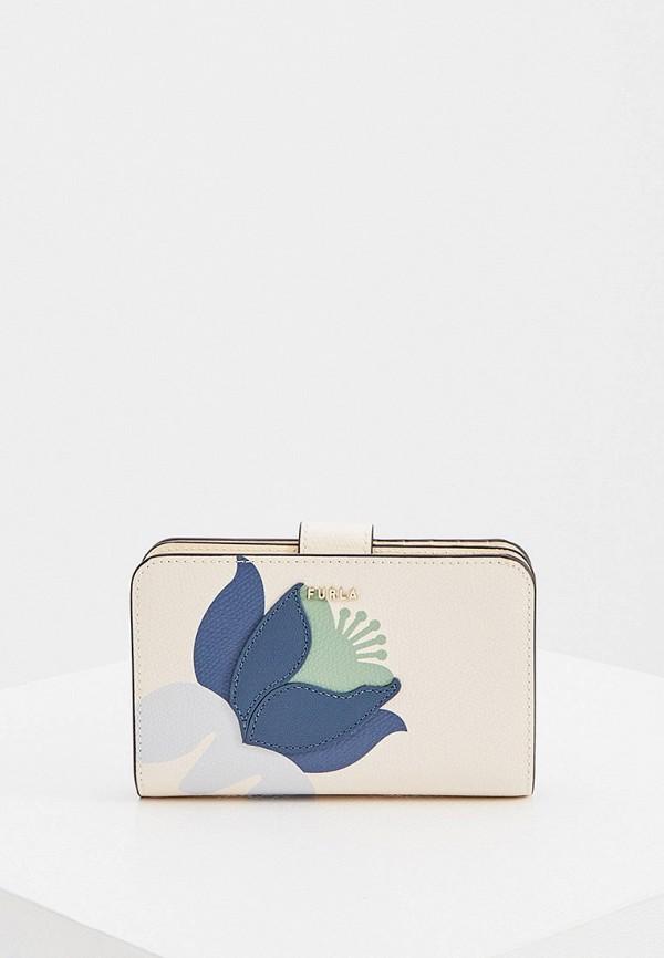 женский кошелёк furla, бежевый