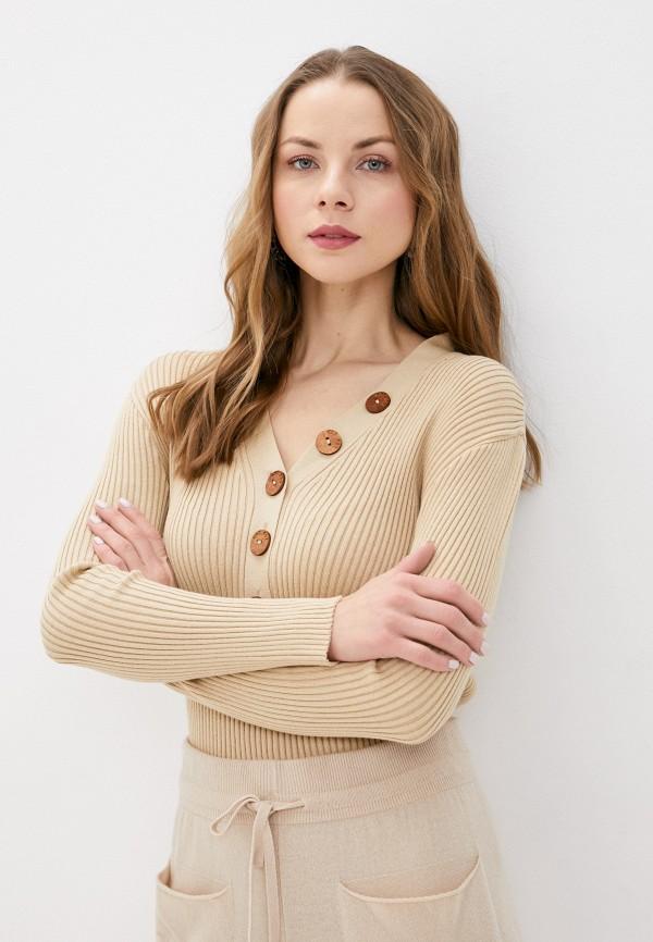 женский пуловер ksi ksi, бежевый