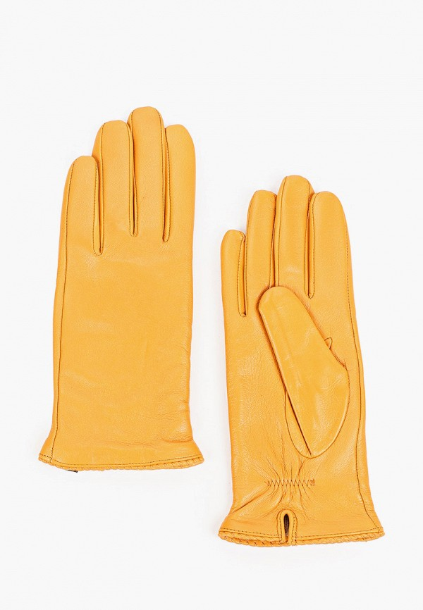 женские кожаные перчатки pitas, желтые