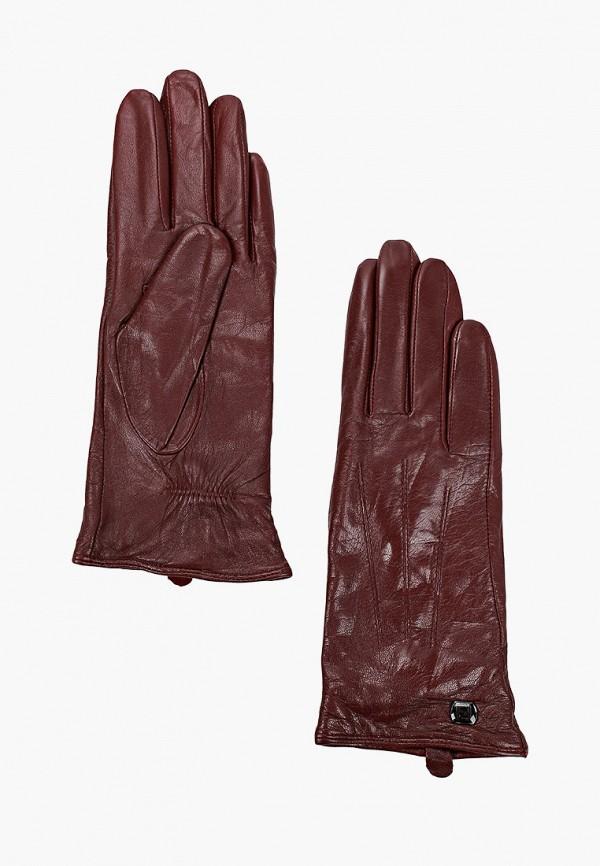 женские кожаные перчатки pitas, бордовые