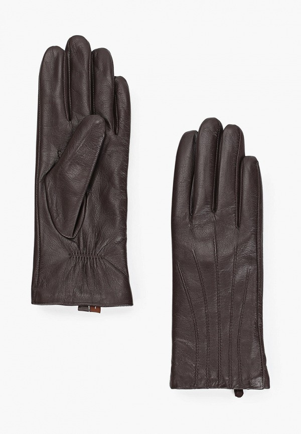 женские кожаные перчатки pitas, коричневые