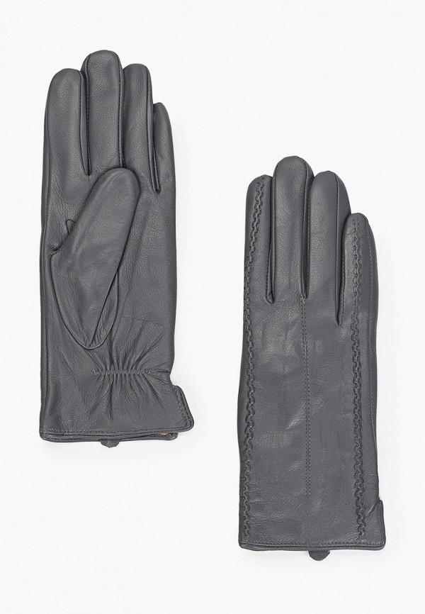 женские кожаные перчатки pitas, серые