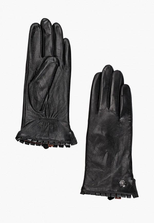 женские кожаные перчатки pitas, черные