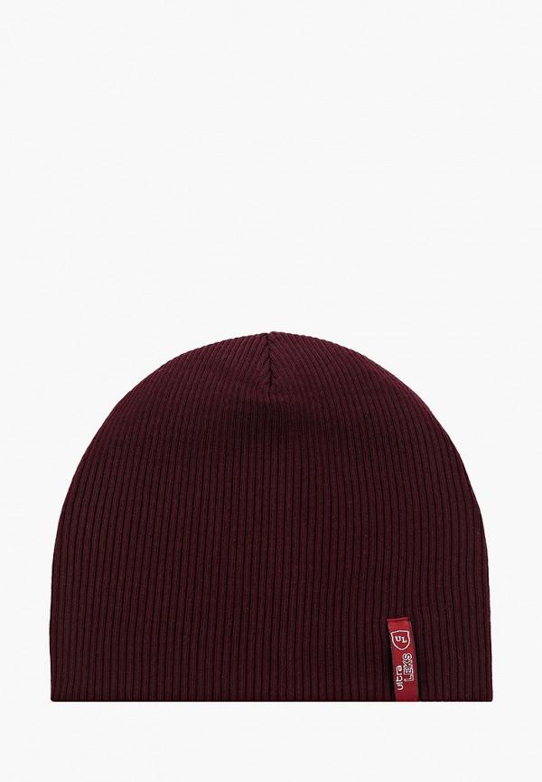 женская шапка ultra leks 2001, бордовая