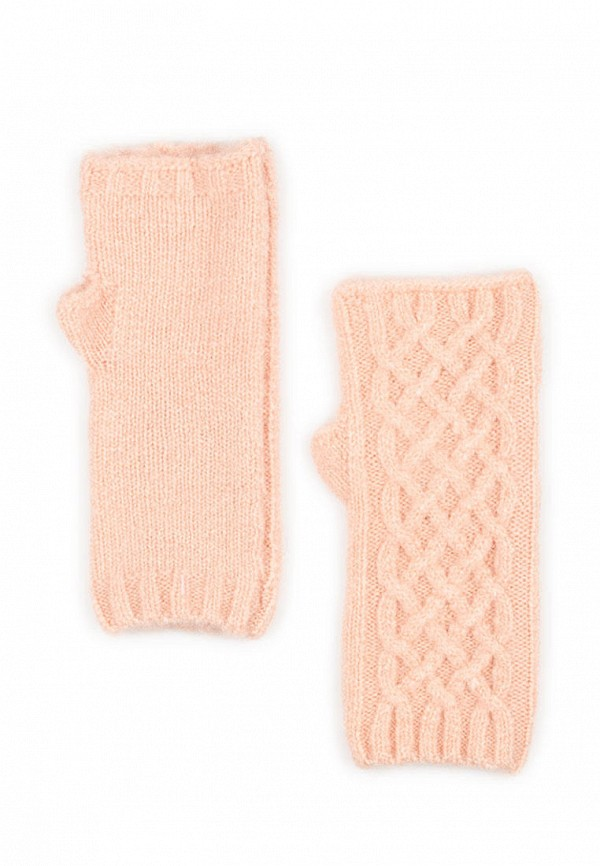 женские митенки l'maro, розовые