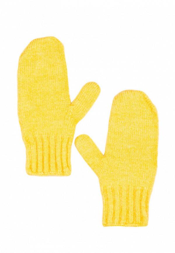 женские варежки l'maro, желтые