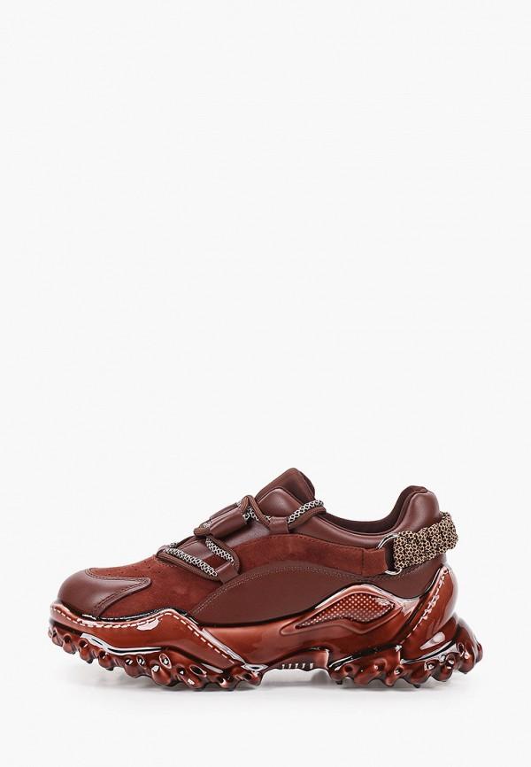 женские низкие кроссовки graciana, коричневые