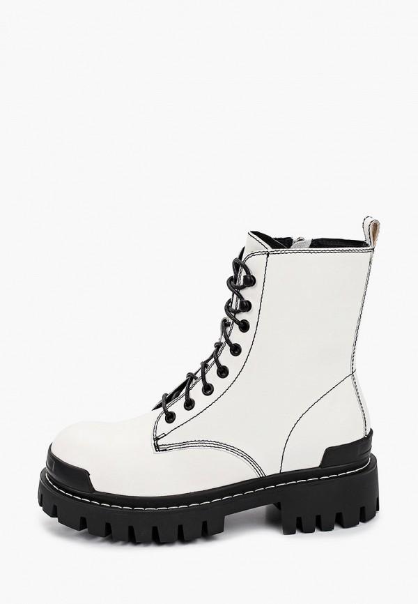 женские высокие ботинки graciana, белые