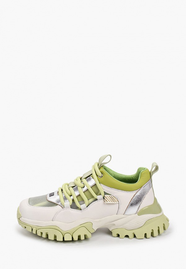 женские низкие кроссовки graciana, зеленые