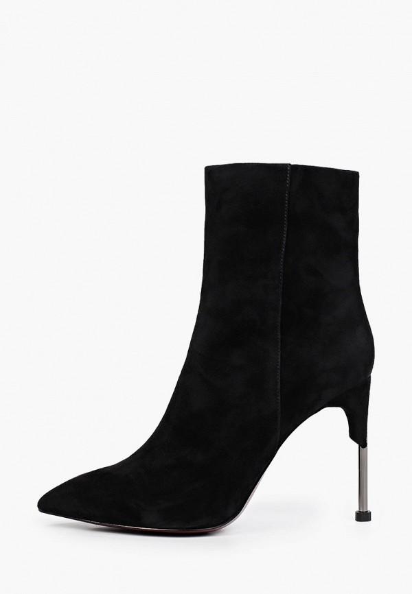 женские высокие ботильоны graciana, черные