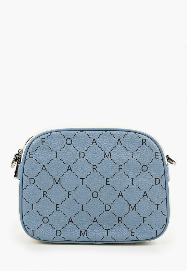 женская сумка через плечо fiato, голубая