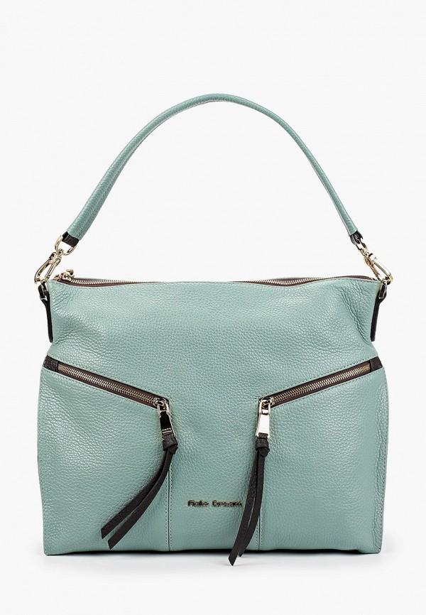 женская сумка с ручками fiato, бирюзовая