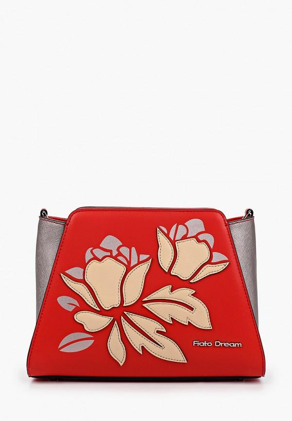 женская сумка через плечо fiato, красная