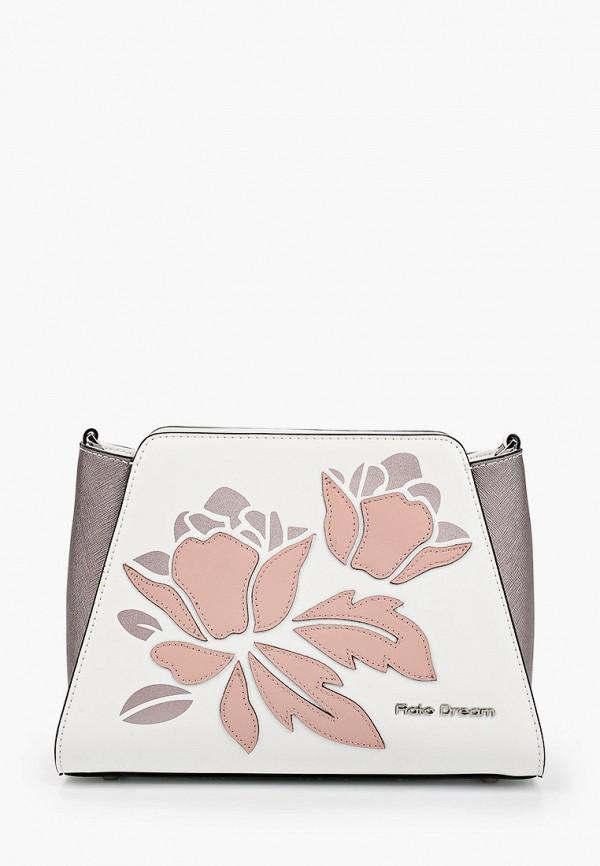 женская сумка через плечо fiato, белая