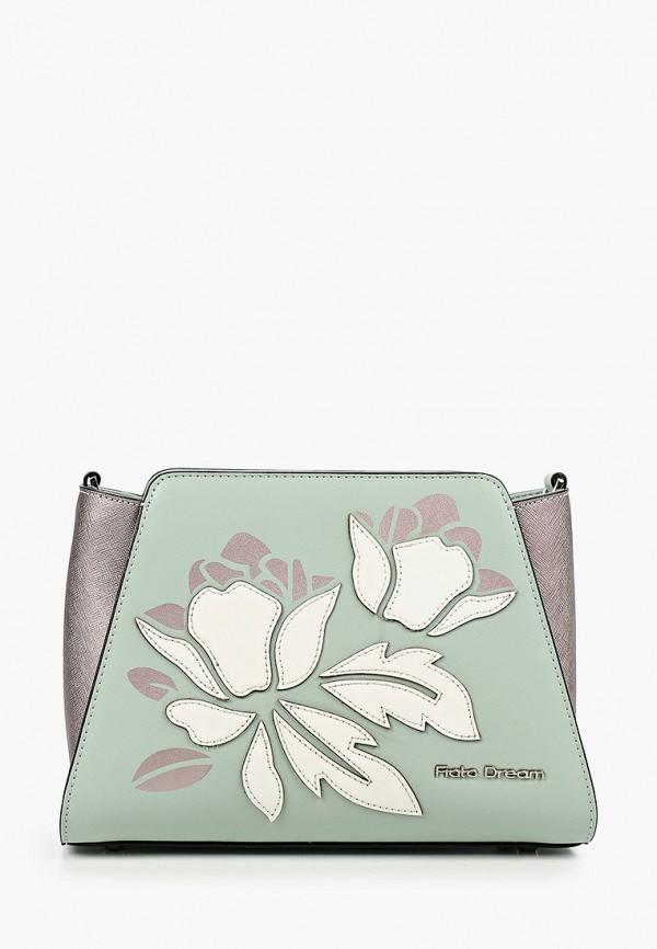 женская сумка через плечо fiato, бирюзовая