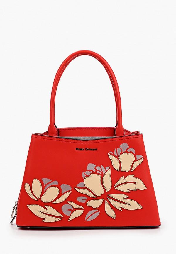 женская сумка с ручками fiato, красная