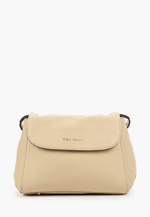 женская сумка через плечо fiato, бежевая