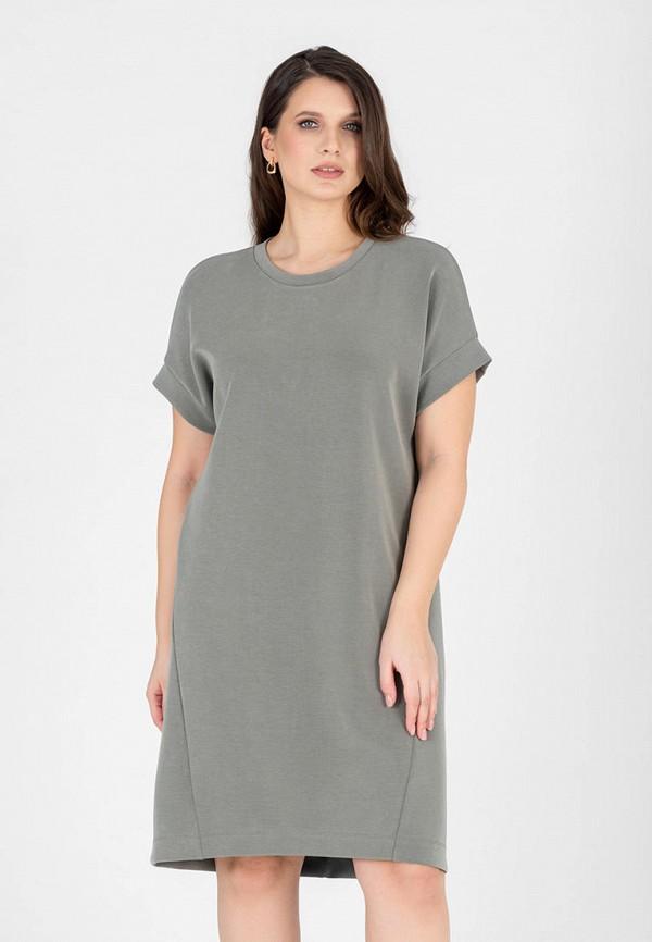 женское платье-футболки eliseeva olesya, серое