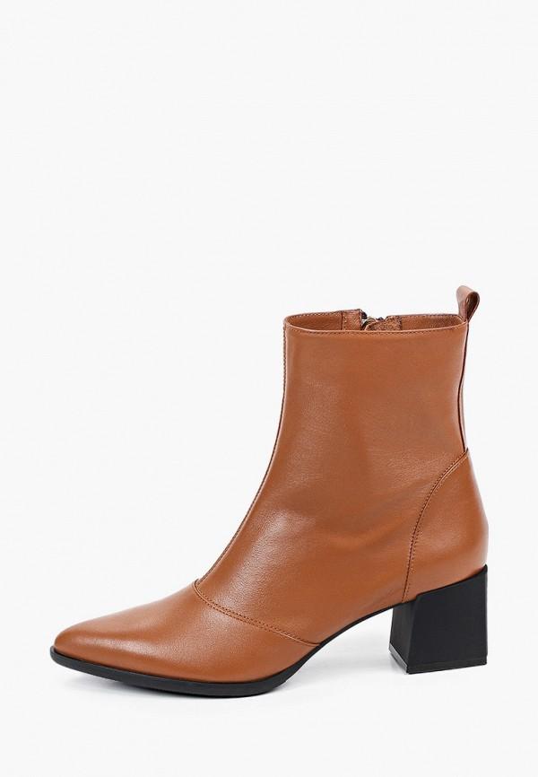 женские высокие ботильоны giotto, коричневые