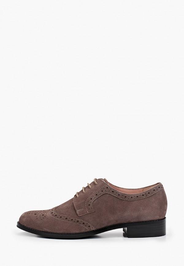 женские ботинки-оксфорды giotto, серые