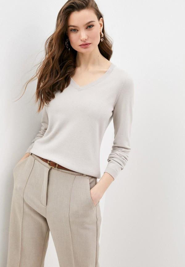женский пуловер falconeri, бежевый