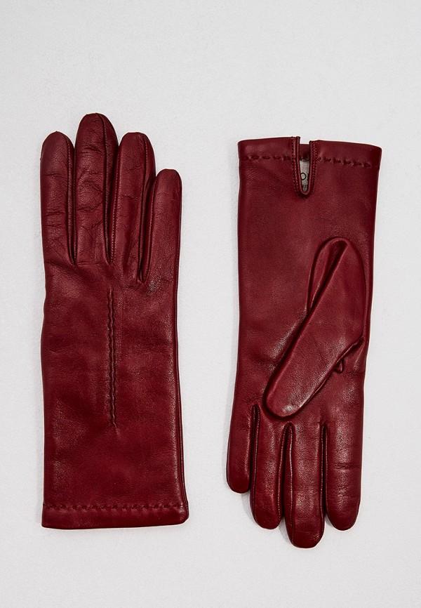женские кожаные перчатки falconeri, бордовые