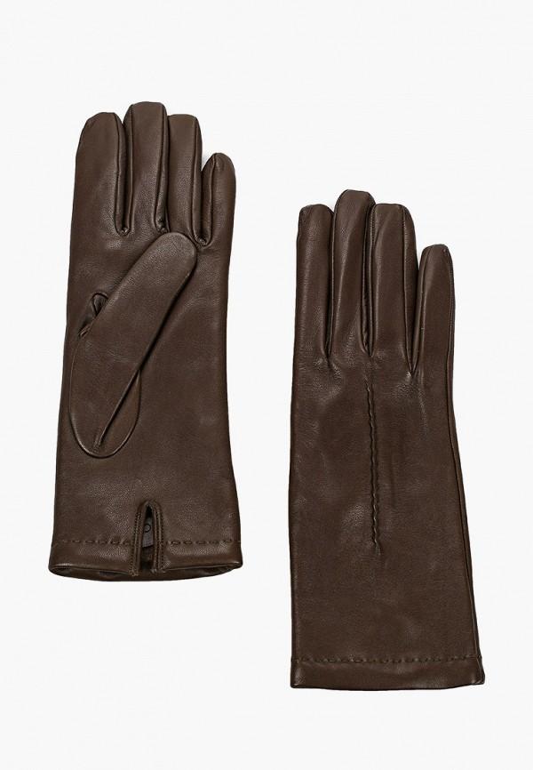 женские кожаные перчатки falconeri, зеленые