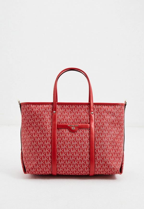 женская сумка-шоперы michael kors, красная