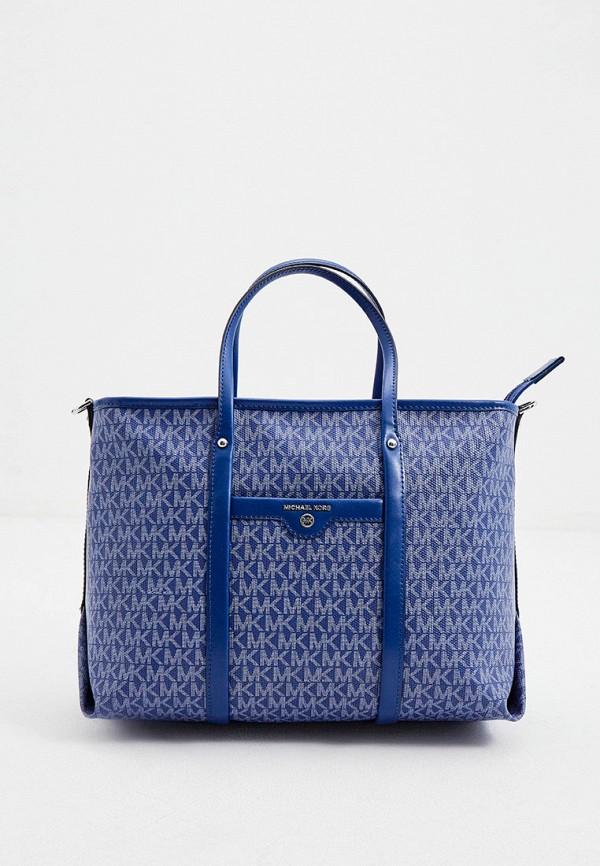 женская сумка-шоперы michael kors, синяя
