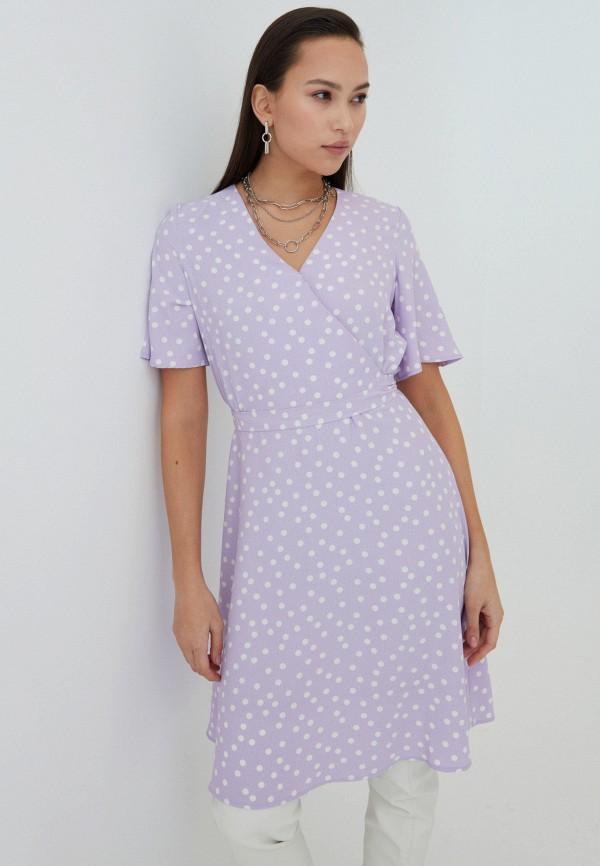 женское платье с запахом zarina, фиолетовое
