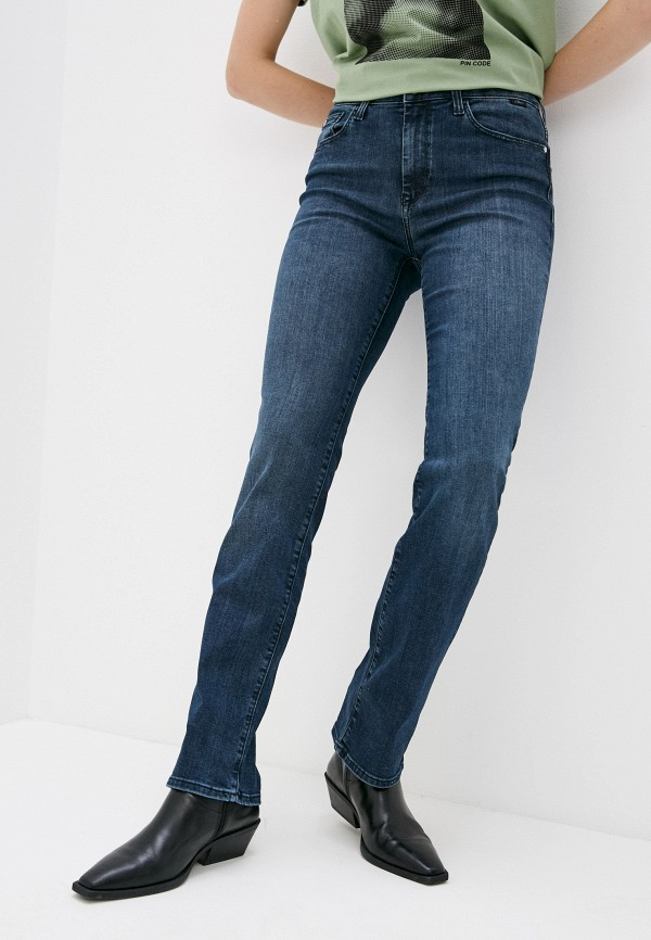 женские прямые джинсы mavi, синие