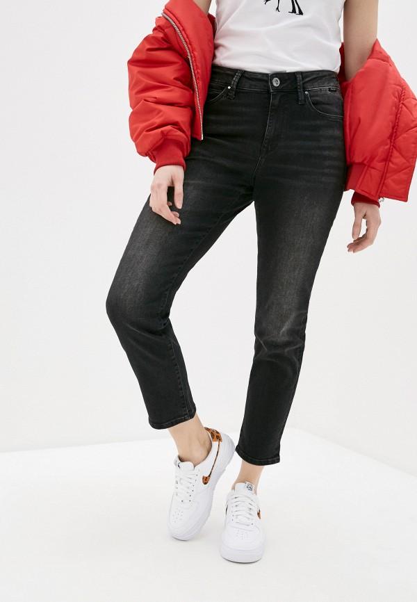 женские джинсы-мом mavi, черные