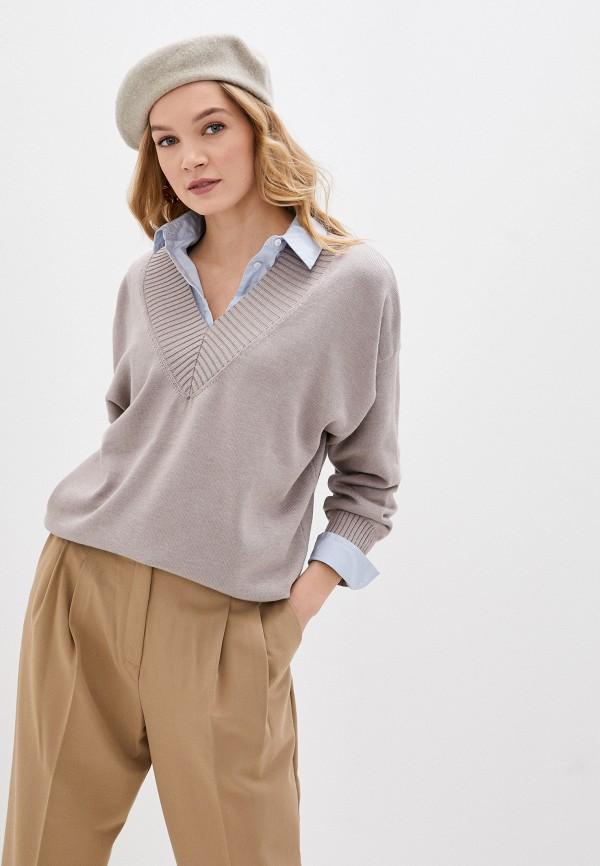 женский пуловер mist, бежевый