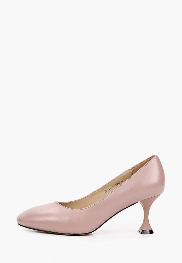 женские туфли с закрытым носом mascotte, розовые