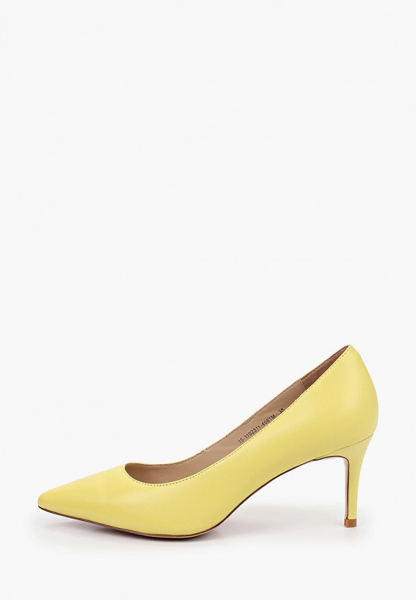 женские туфли-лодочки mascotte, желтые