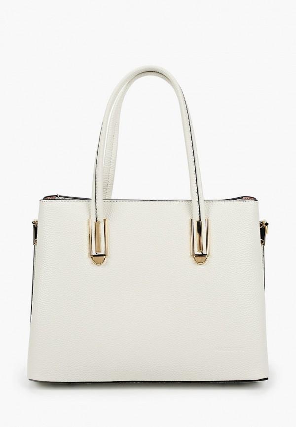 женская сумка с ручками mascotte, белая