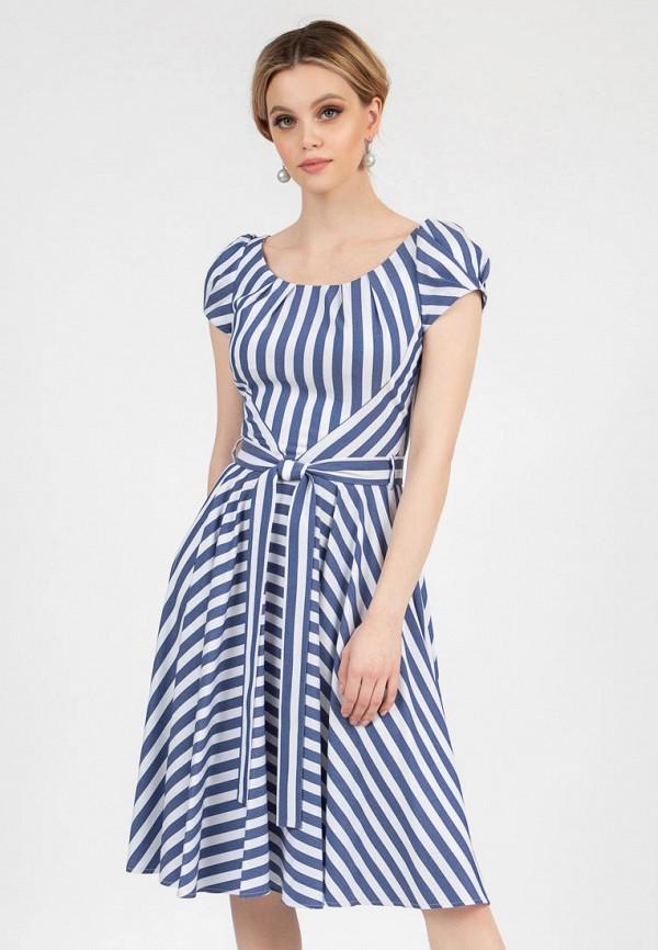 женское повседневные платье grey cat, голубое