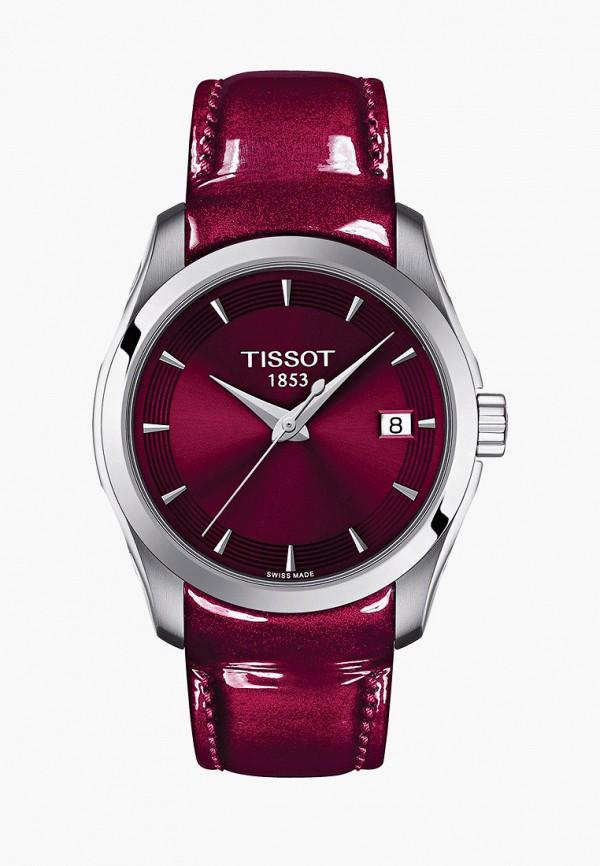 женские часы tissot, бордовые