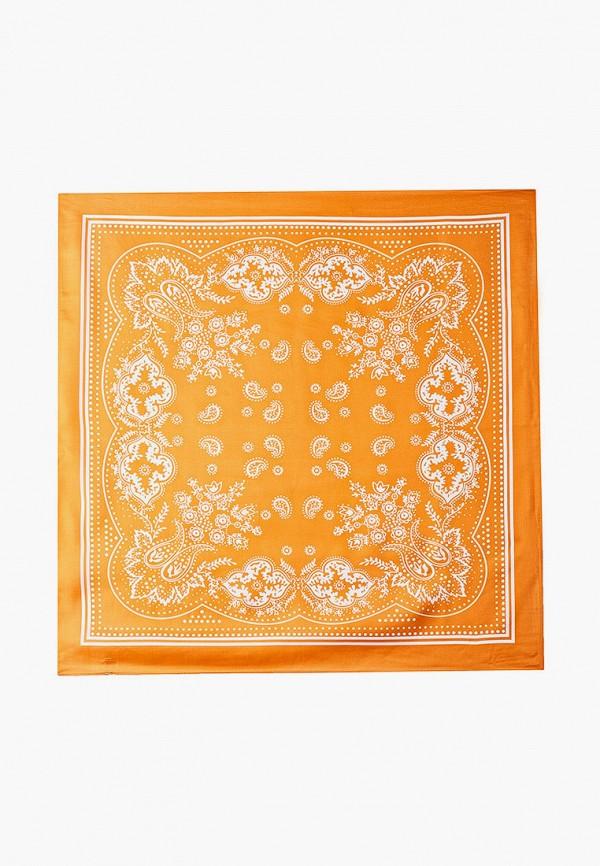 женский платок модные истории, оранжевый
